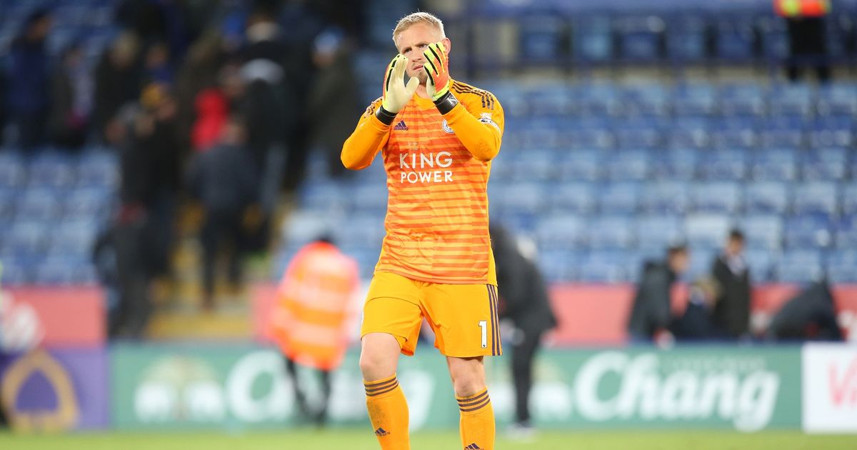 Schmeichel sheds tears as he joins onlookers after Leicester helicopter crash