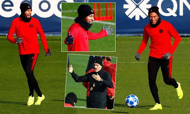 Neymar and Kylian Mbappe lead the way as PSG get ready for Napoli game
