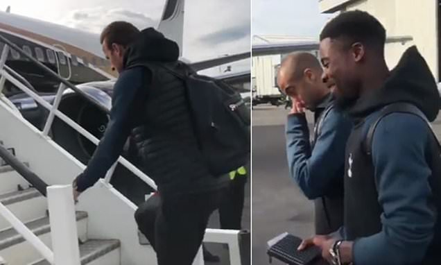 Tottenham fly out to Eindhoven ahead of Champions League game with PSV