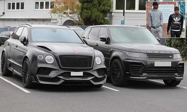 Inseparable Lingard and Rashford park supercars next to each other