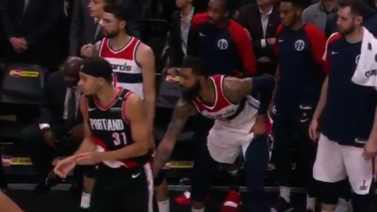 Markieff Morris Shamelessly Yanks Seth Curry's Shorts From The Bench