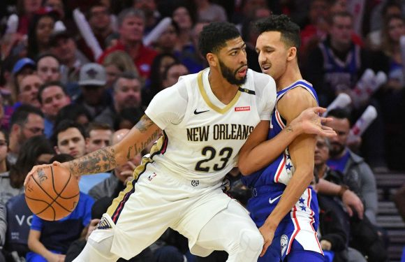 Pelicans' Anthony Davis drops rare 5×5 statistical game in loss to 76ers