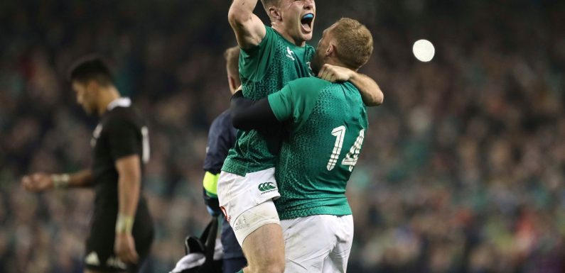Magnificent Jacob Stockdale try secures historic first win on home soil for Ireland against New Zealand
