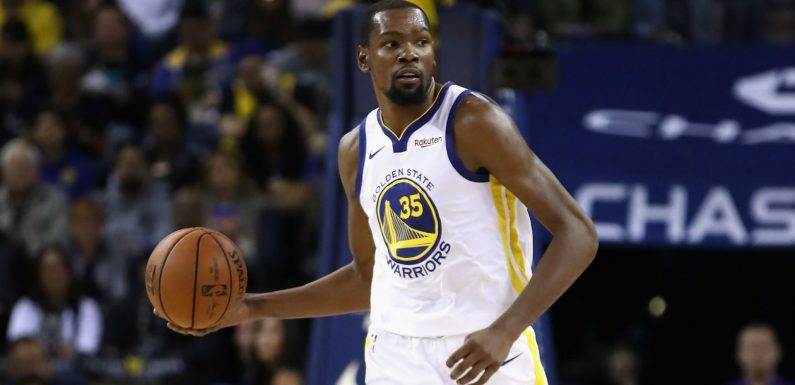 Kevin Durant mum on future after touring Warriors' new arena