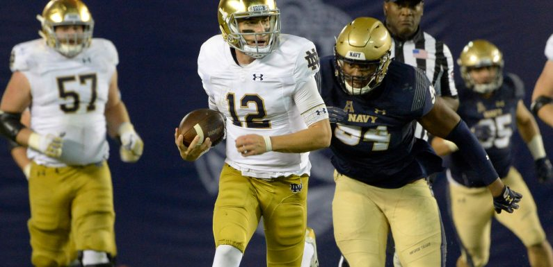The intervention that inspired Notre Dame's Ian Book: 'Tell me why you can't be Drew Brees?'
