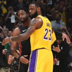 LeBron James wins last duel with Dwyane Wade as Los Angeles Lakers edge Miami Heat