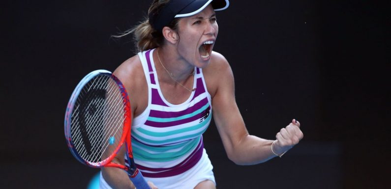 Into the Aussie Open final four, Danielle Collins feeling the love back home