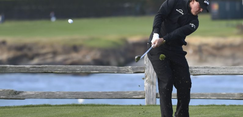 Phil Mickelson two holes away from fifth Pebble Beach victory
