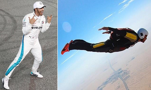 Lewis Hamilton now has a skydiving licence as he enjoys time off