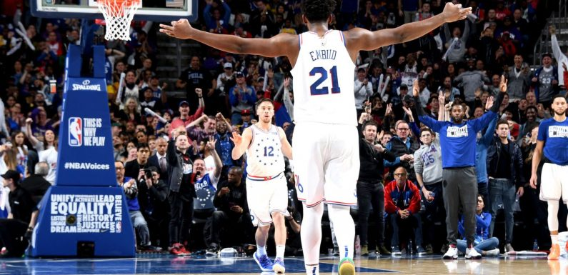 Joel Embiid outshines LeBron James as Philadelphia 76ers cruise past LA Lakers