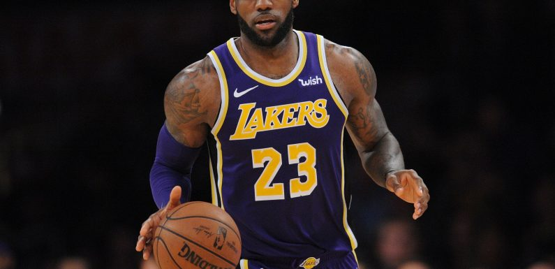 NBA: LeBron James reacts after Los Angeles Lakers star surpasses Michael Jordan's career points total