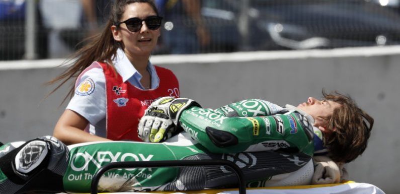 Australian motorcycle legend's son crashes in Spain