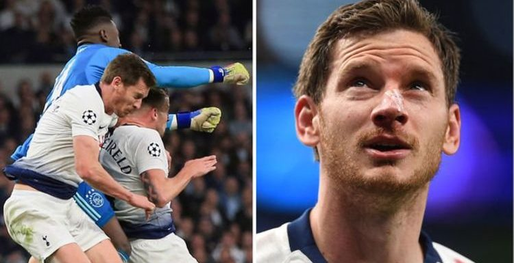 Jan Vertonghen concussion update given after Tottenham star suffers nasty Ajax head injury