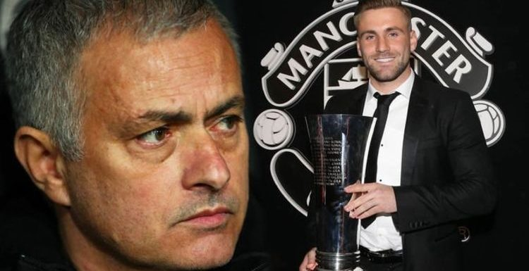 Did Man Utd star Luke Shaw have a DIG at Mourinho after winning Player of the Year award?