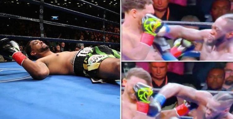 See the EXACT moment Deontay Wilder KNOCKS OUT Dominic Breazeale – PICTURES