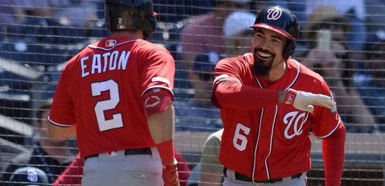 Washington Nationals slug four consecutive home runs in San Diego