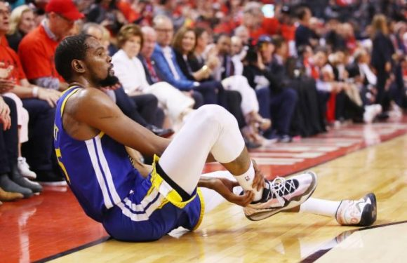 NBA: Warriors fear Durant, cheered by some Raptors fans when he fell, may have ruptured right Achilles