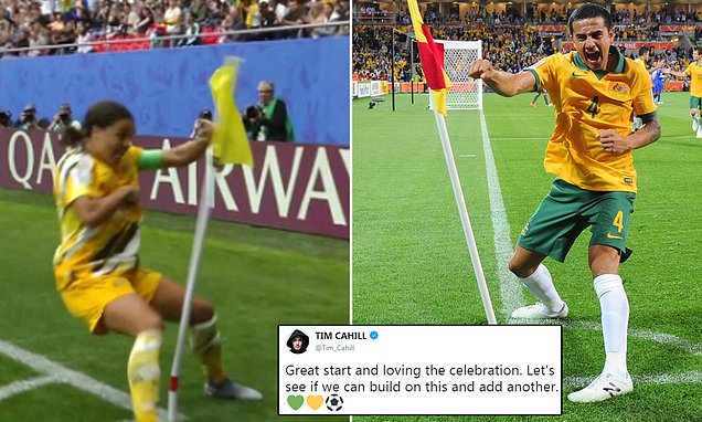 Kerr pays tribute to Australia legend Cahill by punching corner flag
