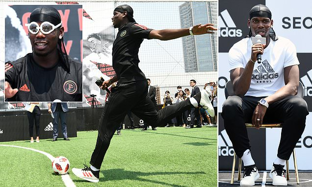 Paul Pogba makes first stop of promotional adidas tour in Seoul