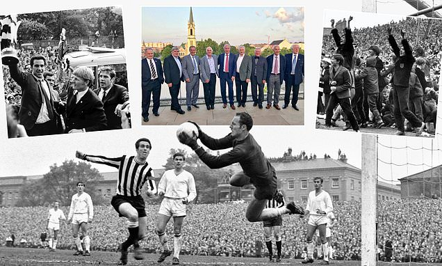 Newcastle's players reunite celebrate their 1969 Fairs Cup glory