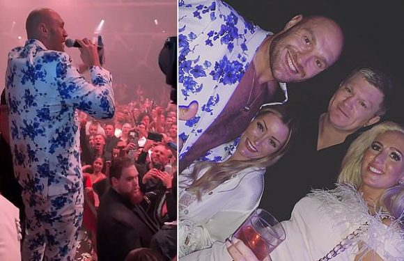 Fury celebrates win over Schwarz with wild party at the MGM Grand