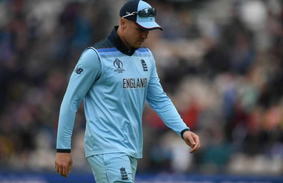 Cricket World Cup: Jason Roy ruled out of England's next two matches with hamstring tear