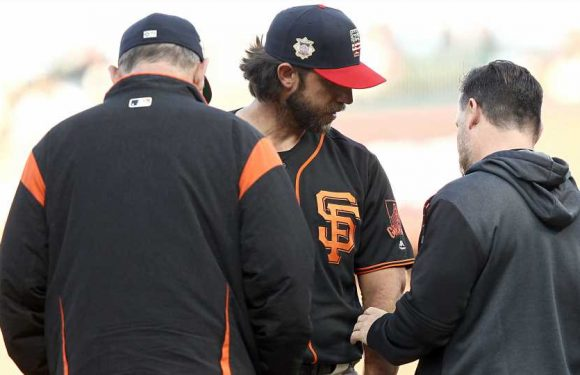 Madison Bumgarner injury update: Giants starter exits after being hit by line drive