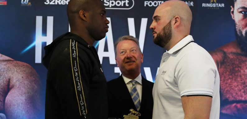 Nathan Gorman and Daniel Dubois weigh-in ahead of British title fight