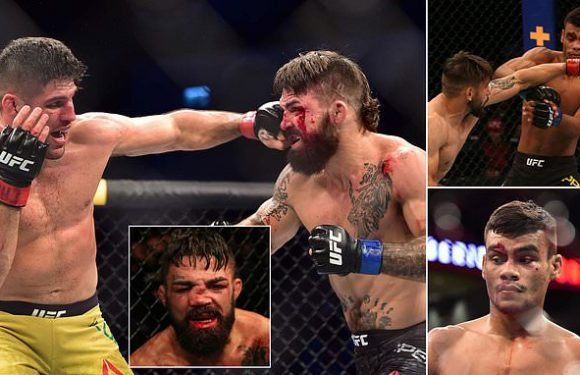 UFC fighters Mike Perry and Raul Pauliva suffer HORRIFIC injuries