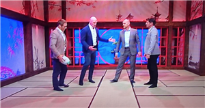 Rugby World Cup fans left baffled by ITV's 'dojo' studio