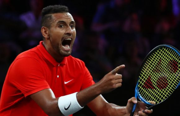 Pumped-up Kyrgios gets one over Nadal at Laver Cup