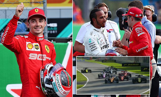 Leclerc takes pole position for Italian Grand Prix from Hamilton