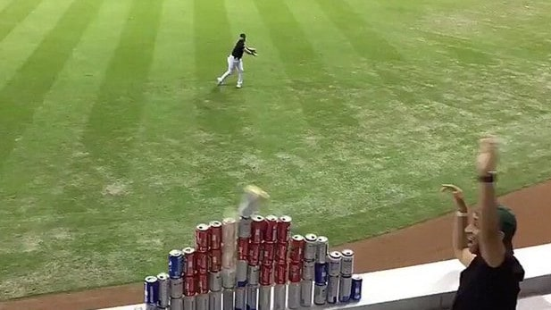 Baseball star's crazy play goes viral
