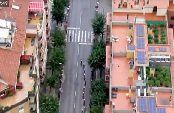 Vuelta helicopter camera leads to cannabis raid after revealing rooftop plantations
