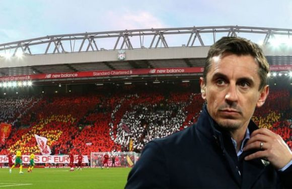 Gary Neville says Man Utd vs Liverpool atmosphere is better at Anfield than Old Trafford