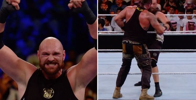 Tyson Fury wins in WWE debut vs Braun Strowman with knockout punch at Crown Jewel