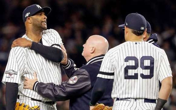 Sabathia exits hurt in possible final appearance