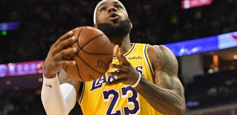 LeBron James scores 20 points in Los Angeles Lakers' narrow loss to Brooklyn Nets in China