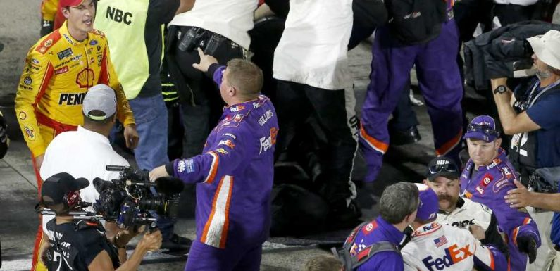 Denny Hamlin breaks out Joey Logano impression after Martinsville scuffle