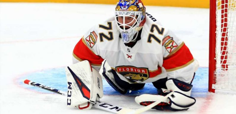 Florida Panthers' Sergei Bobrovsky pulled in third start of season after first period