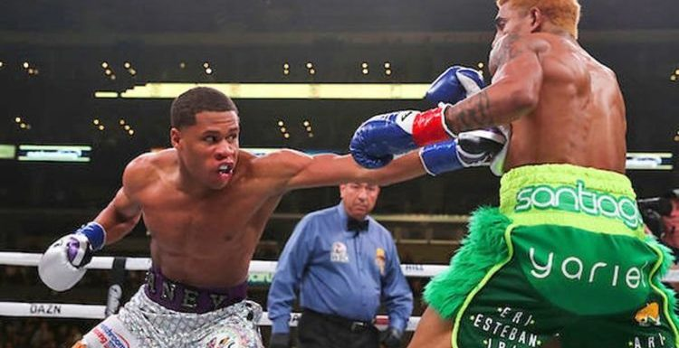 Devin Haney retains world title with dominant points victory over Alfredo Santiago