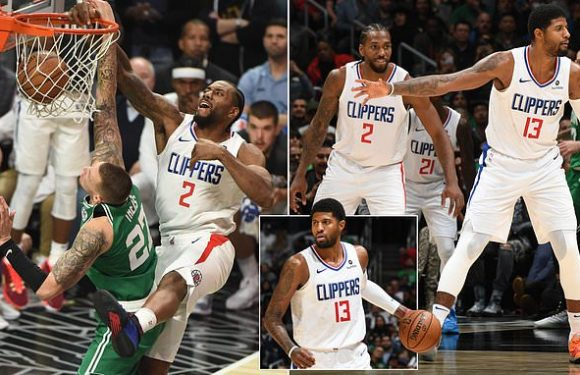 Leonard and George help LA Clippers to overtime win against Boston