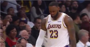 LeBron James responds to lady who told him to 'watch your mouth' in Lakers game