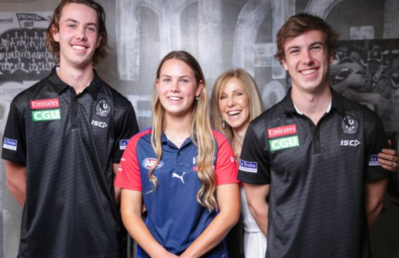 Brown town: Tarni trains with Collingwood as Pies close on family quartet