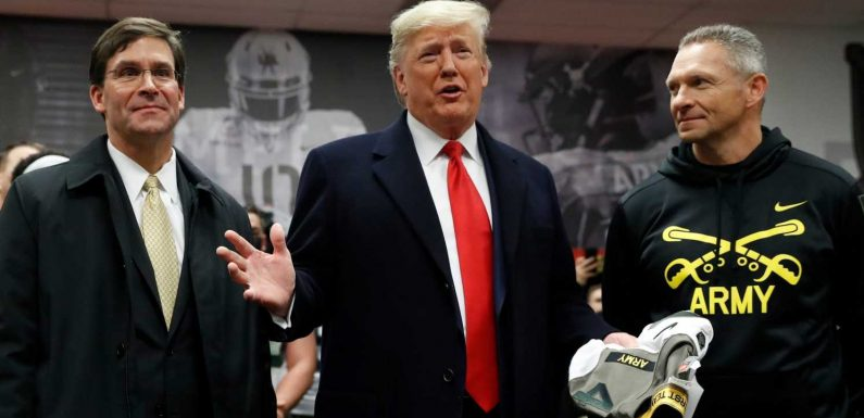 President Donald Trump receives rousing welcome from crowd at 120th Army-Navy game
