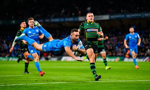 Seven-try Leinster put 50 on Northampton as Leo Cullen's men book place in Champions Cup quarter-final