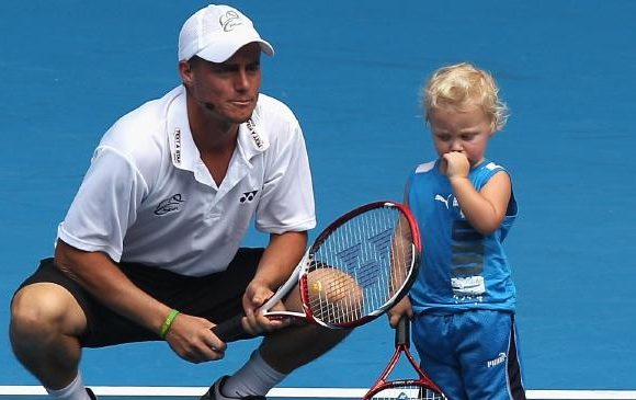 Lleyton Hewitt's son has grown up fast
