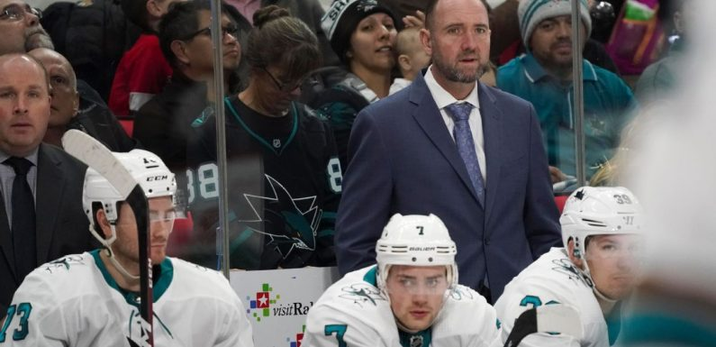 Source: Sharks fire DeBoer after listless start