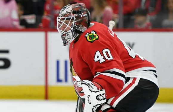 Chicago Blackhawks' Robin Lehner makes case for Save of the Year with stop vs. Coyotes