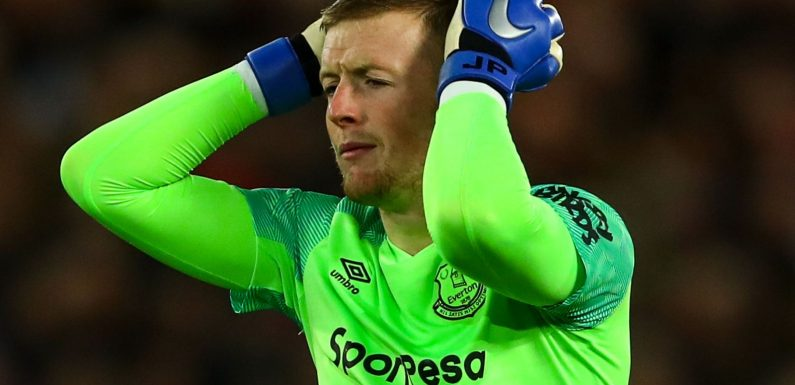 Jordan Pickford says Everton emotions were on 'a different scale' after Anfield howler